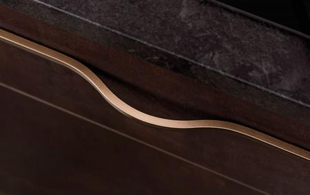 Maner pentru mobilier Brave maro metalizat, L= 600 mm0