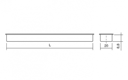Maner pentru mobilier Cubic alb mat1