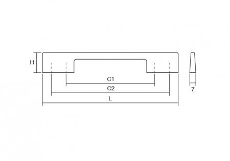Maner pentru mobilier Dino negru mat L:156 mm1