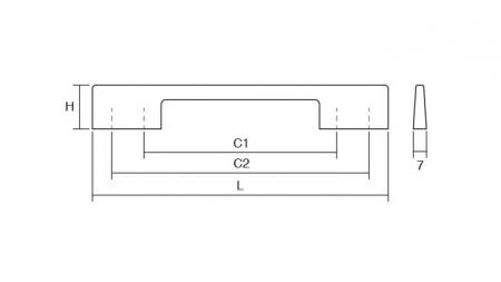 Maner pentru mobilier Dino, nichel periat, L:156 mm2