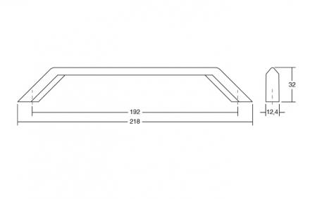 Maner pentru mobilier Feltre finisaj negru mat1