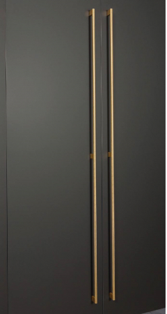 Maner pentru mobilier Graf Mini Long, finisaj alama intunecata periata, L: 1200 mm1