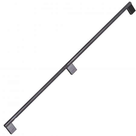 Maner pentru mobilier Graf Mini Long, finisaj negru periat, L: 1200 mm0