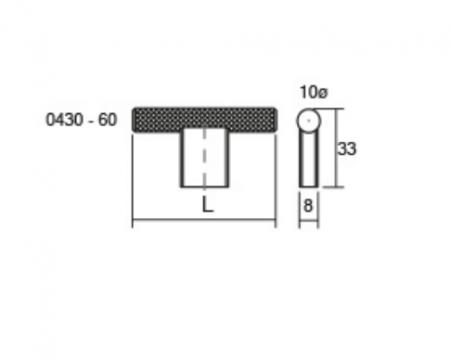 Maner pentru mobilier Graf2, otel inoxidabil, L= 60 mm1