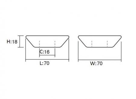 Maner pentru mobilier Piramidal alb1
