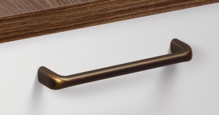 Maner pentru mobilier Redo L:137 mm finisaj alama antichizata [0]