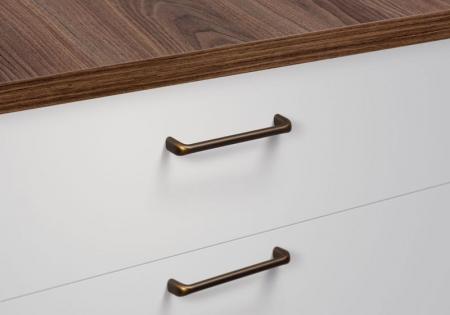 Maner pentru mobilier Redo L:201 mm finisaj alama antichizata [2]