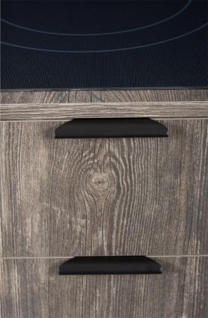 Maner pentru mobilier Ritta, negru mat, L:130 mm0