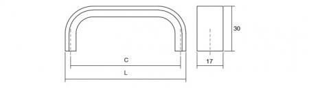 Maner pentru mobilier Sense Mini, otel inoxidabil, L: 103 mm1