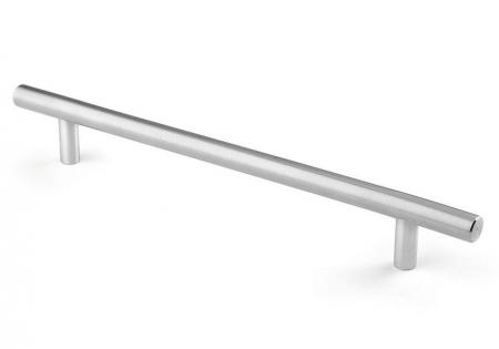 Maner pentru mobilier Tub, finisaj otel inoxidabil, L:192 mm0