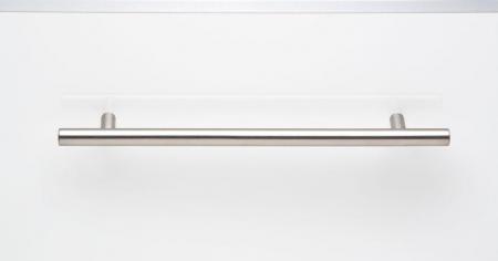 Maner pentru mobilier Tub, finisaj otel inoxidabil, L:192 mm1