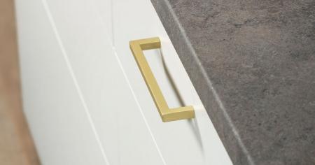Maner pentru mobilier U, alama periata, L: 136,5 mm0
