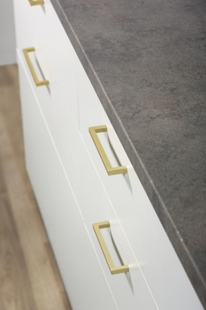Maner pentru mobilier U alama periata L:168.5 mm [0]