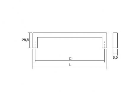 Maner pentru mobilier U alama periata L:168.5 mm [3]