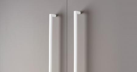 Maner pentru mobilier U, alb mat, L:200,5 mm1