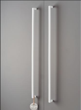 Maner pentru mobilier U, alb mat, L:200,5 mm4