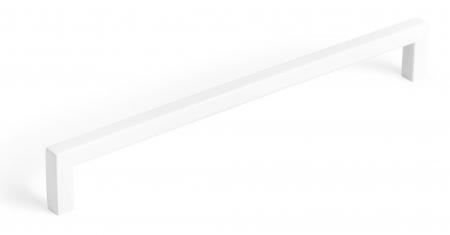 Maner pentru mobilier U, alb mat, L:200,5 mm0