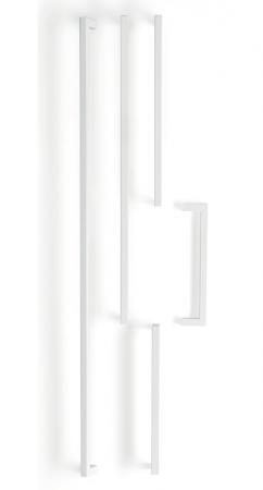 Maner pentru mobilier U, alb mat, L:200,5 mm3