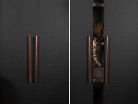 Maner pentru mobilier U, cupru periat, L: 500,5 mm2