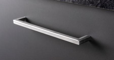 Maner pentru mobilier U, gri periat, L: 136,5 mm0