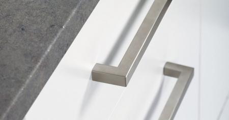 Maner pentru mobilier U, nichel periat, L: 136,5 mm1