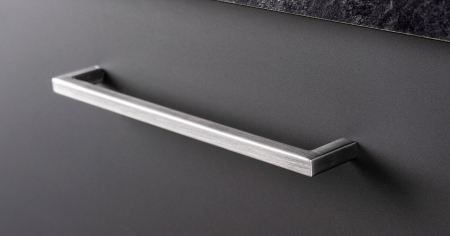 Maner pentru mobilier U, gri periat, L: 500,5 mm0