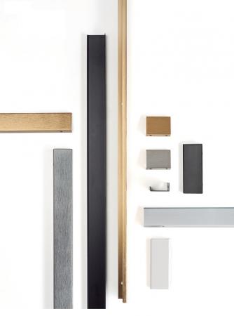 Maner pentru mobilier Way, finisaj aluminiu, L:800 mm2
