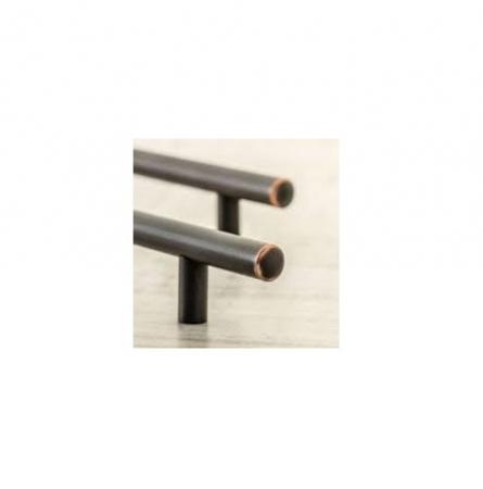 Maner vintage cilindric pentru mobilier RELING, finisaj cupru antichizat L:400 mm1