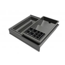 Organizator sertar pentru produse de machiaj ,tip VL , gri orion, 350 mm0