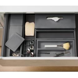 Organizator sertar pentru produse de machiaj ,tip VL , gri orion, 350 mm2