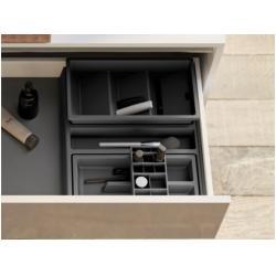 Organizator sertar pentru produse de machiaj ,tip VL , gri orion, 400 mm3