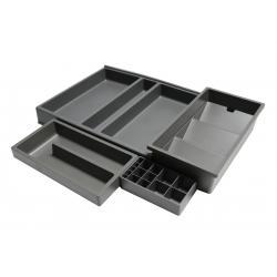 Organizator sertar pentru produse de machiaj ,tip VL , gri orion, 400 mm2