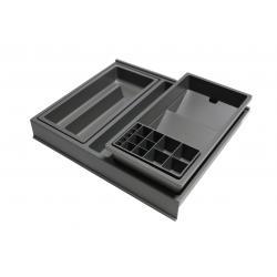 Organizator sertar pentru produse de machiaj ,tip VL , gri orion, 400 mm0