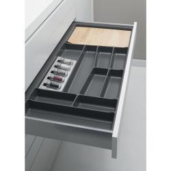 Suport organizare tacamuri, gri grafit, pentru latime corp 800 mm, montabil in sertar de bucatarie0