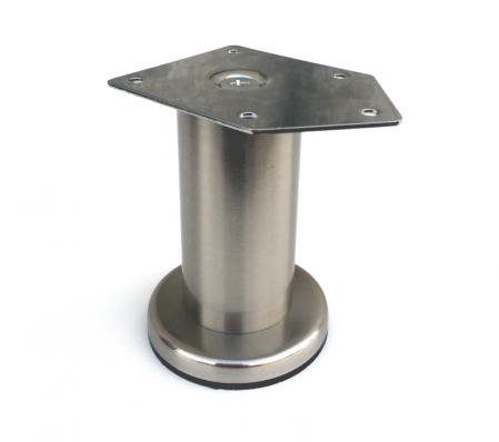 Picior cilindric D:42 mm, H:100 mm finisaj inox0