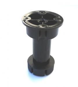Picior cilindric negru H:120 mm pentru mobilier3