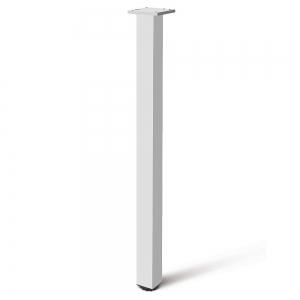 Picior cu profil patrat 60x60 mm, H710, finisaj aluminiu, pentru masa,0
