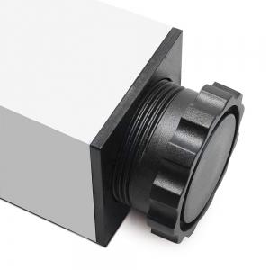 Picior cu profil patrat 60x60 mm, H710, finisaj aluminiu, pentru masa,1