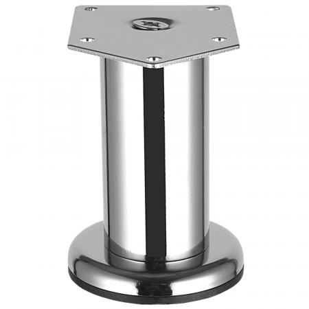 Picior metalic Cilindric pentru mobilier D:42 mm, H:200 mm, finisaj crom lucios0