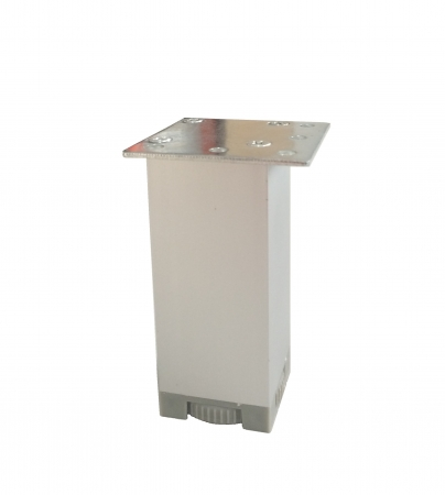 Picior metalic pentru mobilier H:100 mm, finisaj aluminiu, profil patrat 40x40 mm fara masca, AN1 [0]