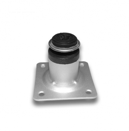 Picior metalic cilindric pentru mobilier H:50 mm, Ø30 mm, finisaj aluminiu1