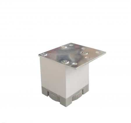 Picior metalic pentru mobilier H:50 mm cu profil patrat 40x40 mm aluminiu0