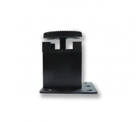 Picior metalic fara masca pentru mobilier H:50 mm cu profil patrat 40x40 mm negru1