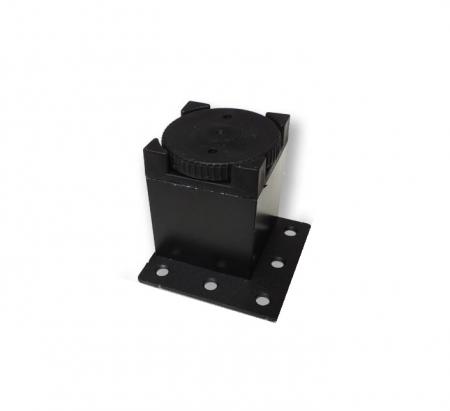 Picior metalic fara masca pentru mobilier H:50 mm cu profil patrat 40x40 mm negru2