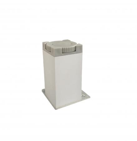 Picior metalic pentru mobilier H:80 mm cu profil patrat 40x40 mm aluminiu1