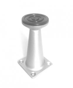 Picior metalic pentru mobilier H:80 mm finisaj aluminiu1