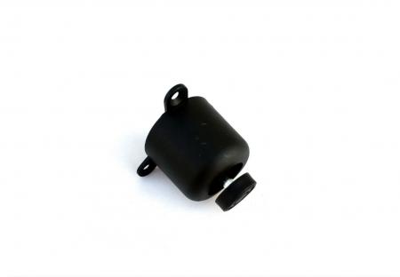 Picior negru reglabil pentru mobilier D 48 mm, H 44 mm0