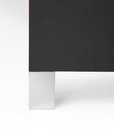 Picior pentru mobila Jazz, finisaj crom mat, H:91 mm [3]