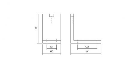 Picior pentru mobilier reglabil, Fonda, H:100 mm, finisaj negru periat3
