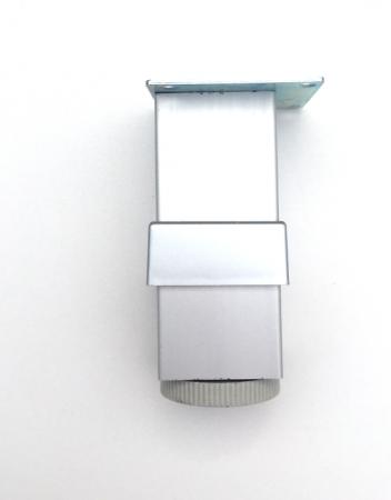 Picior reglabil pentru mobilier H100 finisaj aluminiu1